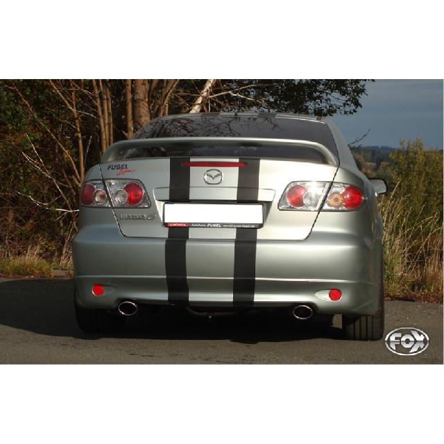 Mazda 6 GG/GY nicht Facelift Endschalldämpfer rechts/links mit Y-Verbindungsrohr - 115x85