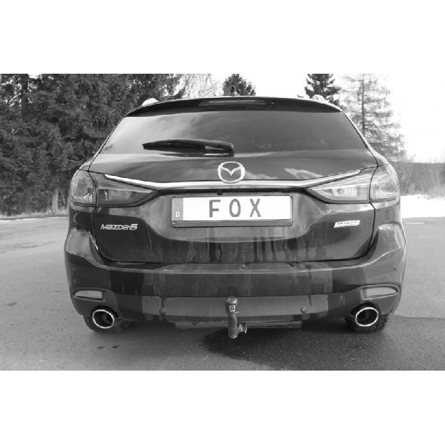 Mazda 6 - GJ Kombi Endschalldämpfer quer Ausgang rechts/links - 115x85