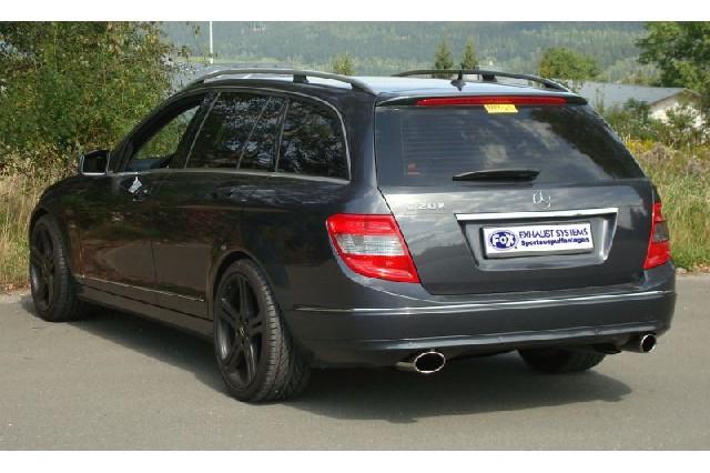 FOX Mercedes C-Klasse 4 Zylinder - W204/S204  Endschalldämpfer rechts/links mit Y-Verbindungsstück - 115x85 Typ 38 rechts/links
