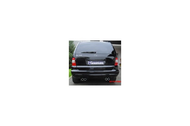 FOX Mercedes M-Klasse W163  Endrohrgeweih ML320-500 - 135x80 Typ 53 rechts/links