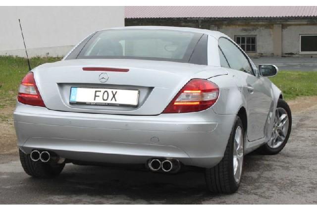 FOX Mercedes SLK Typ 171 - 4 Zylinder  Endschalldämpfer rechs/links - 2x90 Typ 13 rechts/links