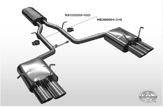 FOX Mercedes GLK X204  Vorschalldämpfer