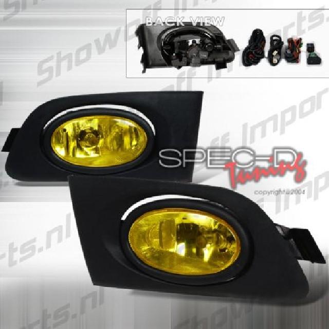 Honda Civic 01-03 2D Coupe Oem Foglights JDM Yellow