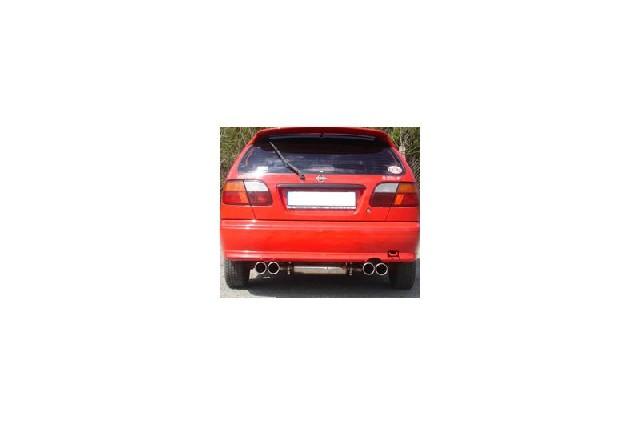 FOX Nissan Almera Typ N15 Hatchback  Endschalldämpfer Ausgang rechts/links  - 2x90 Typ 13 rechts/links