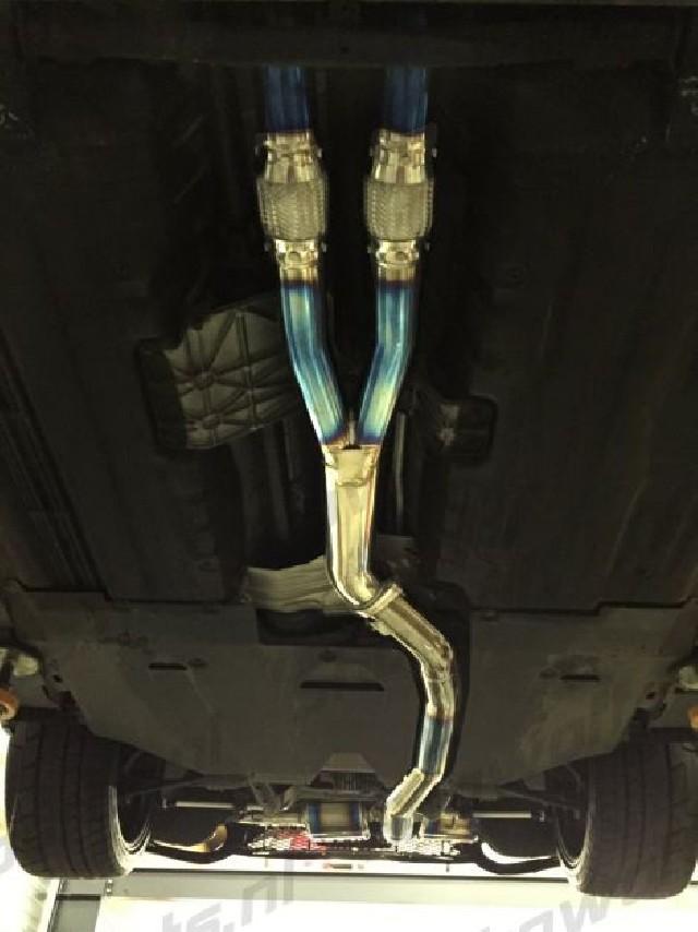Nissan GTR R35 08+ Linney GTC Titan Titanium Y-pipes 102mm