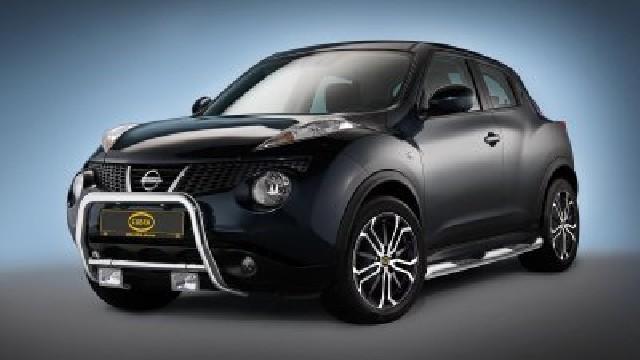 Frontbügel Edelstahl chrom  60 mm für Nissan Juke