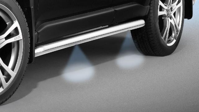 Schwellerrohre Edelstahl beleuchtet,  60 mm für Nissan Navara D40