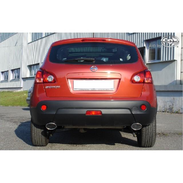 Nissan Qashqai - Diesel Endschalldämpfer quer Ausgang rechts/links - 115x85 Typ 44 rechts/links