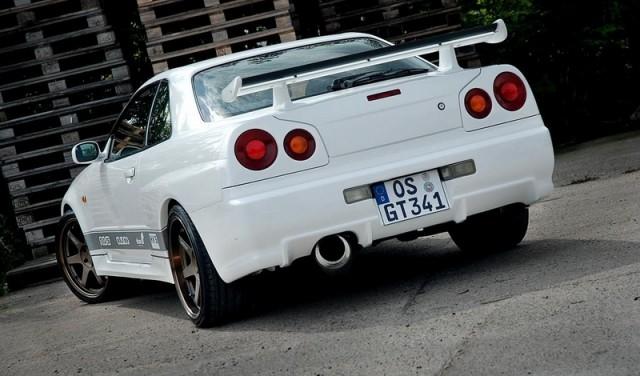 HECKLAMPENABDECKUNGEN NISSAN SKYLINE R34 GTR GTR LOOK