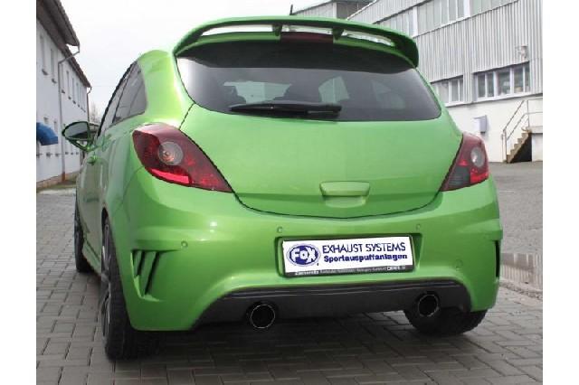 FOX Opel Corsa D NRE  Endschalldämpfer quer Ausgang rechts/links - 1x100 Typ 25 rechts/links