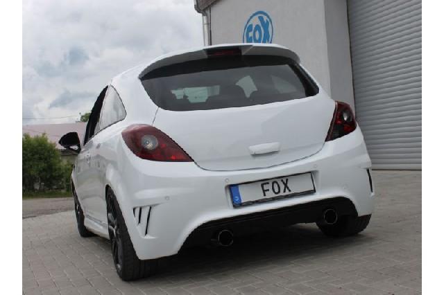 FOX Opel Corsa D - NRE-Edition Stoßstange  Endschalldämpfer Ausgang rechts/links - 1x100 Typ 14 rechts/links