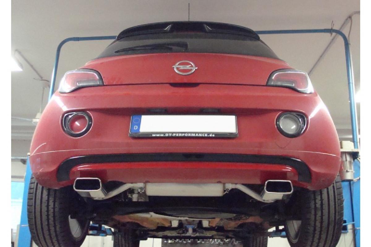 Opel Adam Endschalldämpfer quer Ausgang rechts/links - 145x65  rechts/links