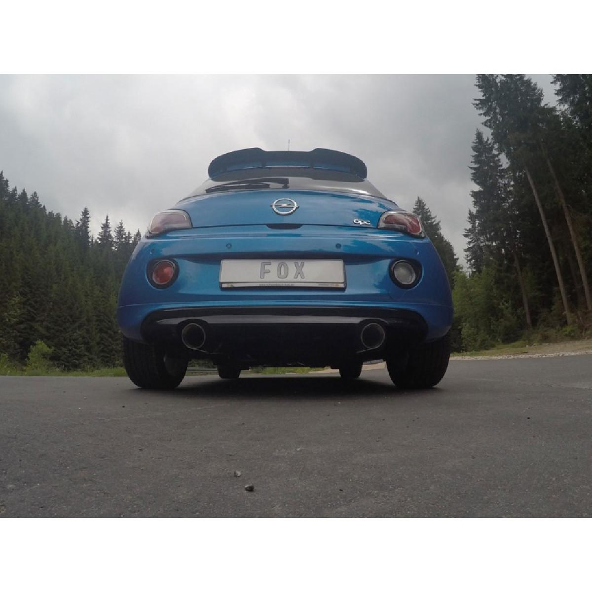 Opel Adam S Endschalldämpfer quer Ausgang rechts/links - 1x100  rechts/links