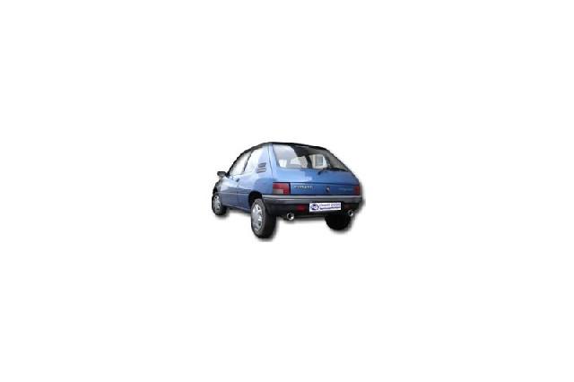 FOX Peugeot 205  Endschalldämpfer quer Ausgang rechts/links - 1x90 Typ 13 rechts/links