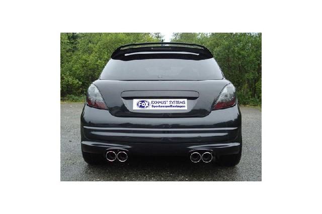 FOX Peugeot 207 RC  Endschalldämpfer Ausgang rechts/links - 2x100 Typ 16 rechts/links