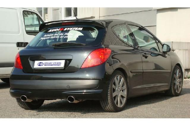 FOX Peugeot 207 HDI/ 207cc HDI  Endschalldämpfer Ausgang rechts/links - 115x85 Typ 32 rechts/links