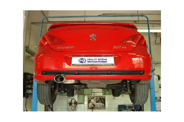 FOX Peugeot 307cc  Endschalldämpfer - 129x106 Typ 32