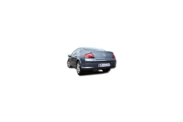 FOX Peugeot 407 - 2,2l 16V  Endschalldämpfer - 2x106x71 Typ 33