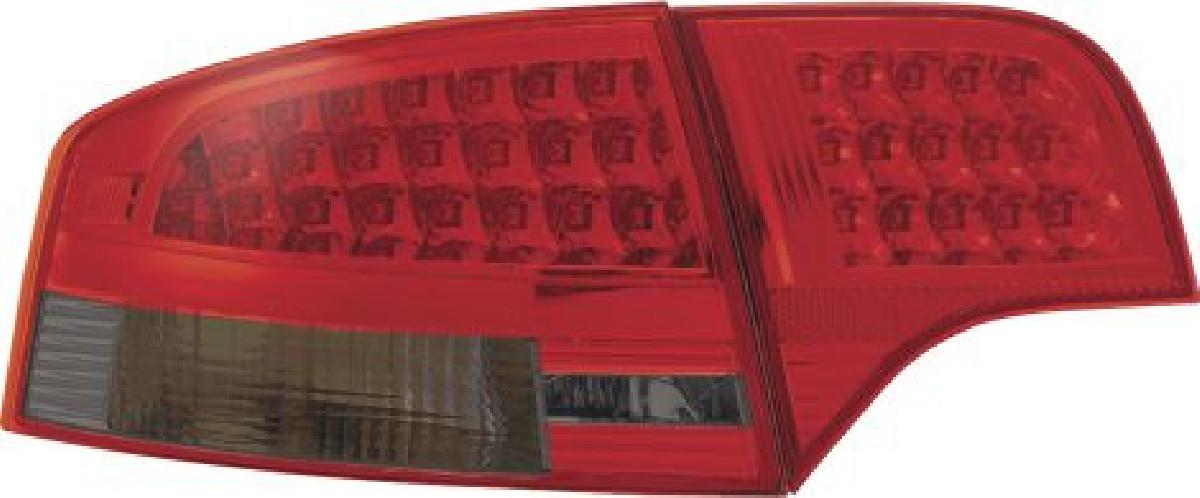 Audi A4 4D B7 05-08 LED Taillights Set Red/Smoke
