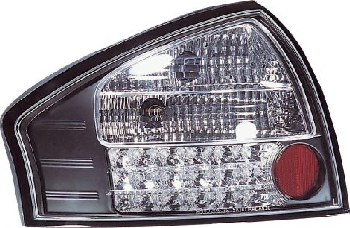 Audi A6 4D 99-03 LED Taillights Set Black