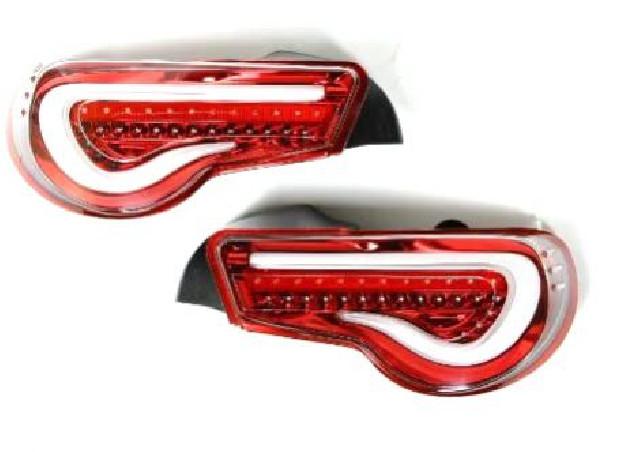Subaru BRZ Taillights TRAD Clear/Red Valenti