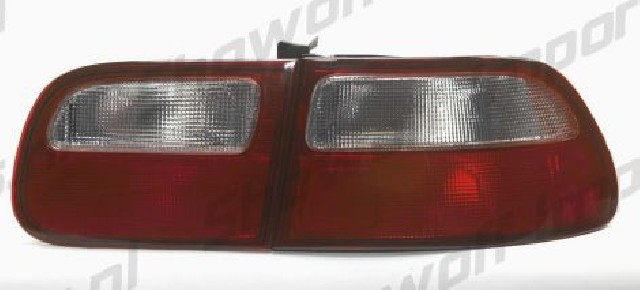 Honda Civic 3D 92-95 Red/White Lens Taillights OEMStyle