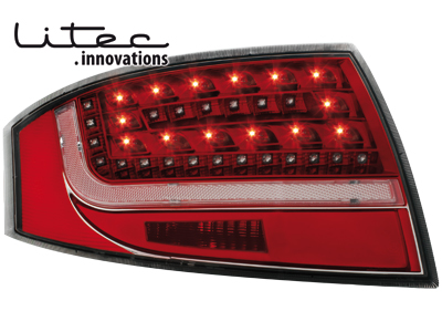 LITEC LED Rückleuchten Audi TT 8N3/8N9 98-05 red/crystal