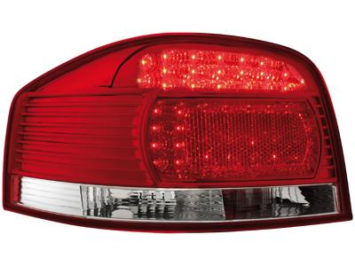 LED Rückleuchten Audi A3 8P 03-09 red/crystal