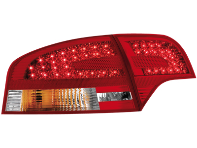 LED Rückleuchten Audi A4 B7 Lim. 05+ red/crystal