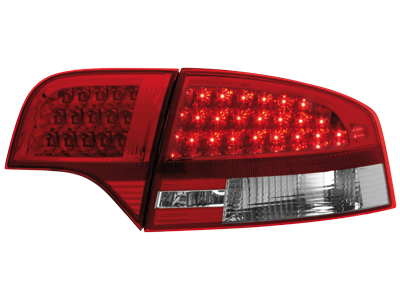 LED Rückleuchten Audi A4 B7 Limousine 04-08 red/crystal