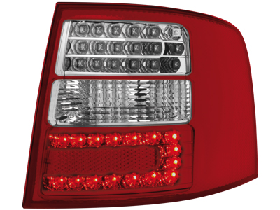 LED Rückleuchten Audi A6 4B Avant 12.97-01.05 red/crystal