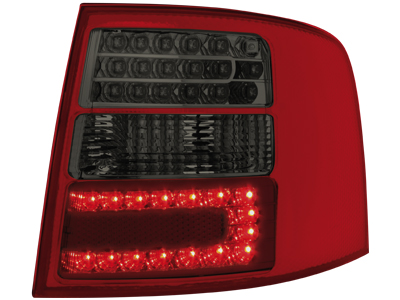LED Rückleuchten Audi A6 4B Avant 12.97-01.05 red/smoke