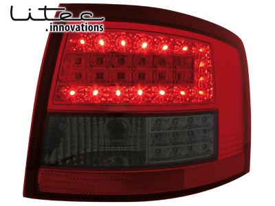 LITEC LED Rückleuchten Audi A6 4B Avant 12.97-1.05 red/smoke