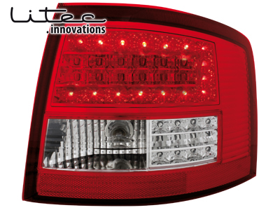 LITEC LED Rückleuchten Audi A6 4B Avant 12.97-1.05 red/clear