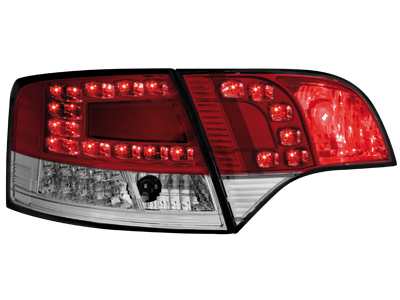 LED Rückleuchten Audi A4 B7 Avant 04-08 LED BLINKER red/crys
