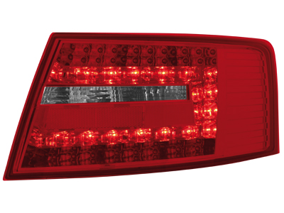 LED Rückleuchten Audi A6 4F Limousine 04-08 red/crystal
