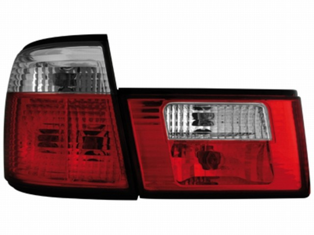 Rückleuchten BMW 5er E34 Lim. 85-95 red/crystal