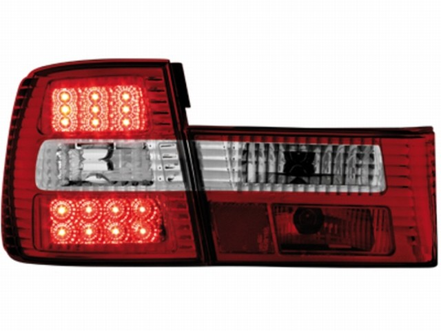 LED Rückleuchten BMW 5er E34 Lim. 85-95 red/crystal