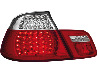 LED Rückleuchten BMW 3er E46 Cabrio 00-05 red/crystal 4teilig