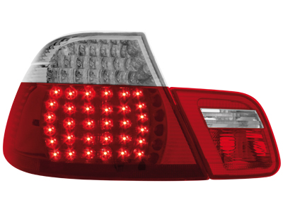 LED Rückleuchten BMW 3er E46 Coupe 98-02 red/crystal 4teilig
