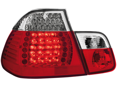 LED Rückleuchten BMW 3er E46 Lim. 98-01 red/crystal 4-teilig