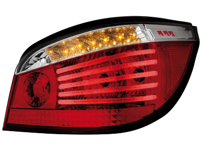 LED Rückleuchten BMW 5er E60 04.03-03.07 red/crystal