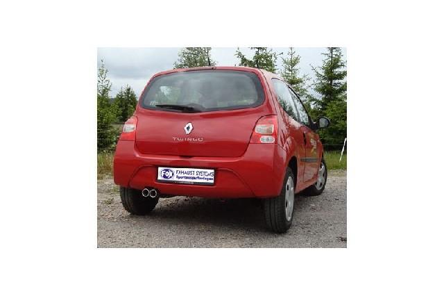FOX Renault Twingo CNO  Endschalldämpfer - 2x70 Typ 13