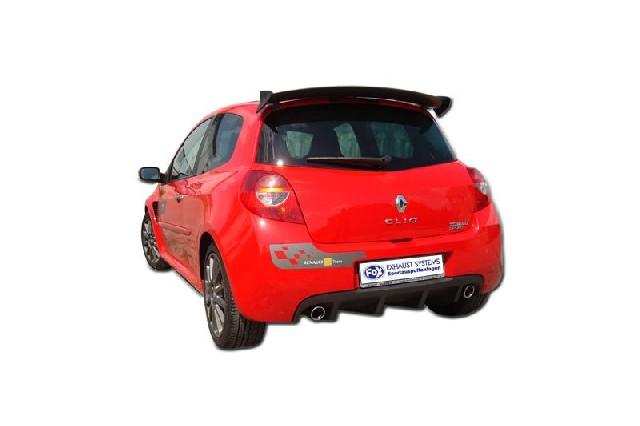 FOX Renault Clio III B Sport  Endschalldämpfer quer Ausgang rechts/links - 1x90 Typ 17 rechts/links