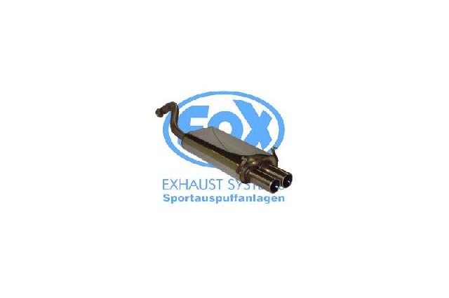FOX Renault Laguna I B56 - Limousine  Endschalldämpfer - 2x80 Typ 13