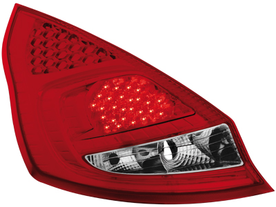 LED Rückleuchten Ford Fiesta MK7 08+ 5T red/crystal