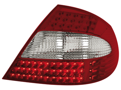 LED Rückleuchten Mercedes Benz CLK W209 05-10 red/crystal