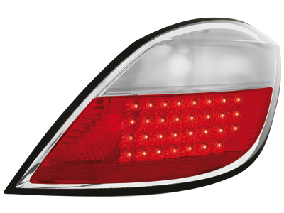 LED Rückleuchten Opel Astra H 5T 04-10 red/crystal