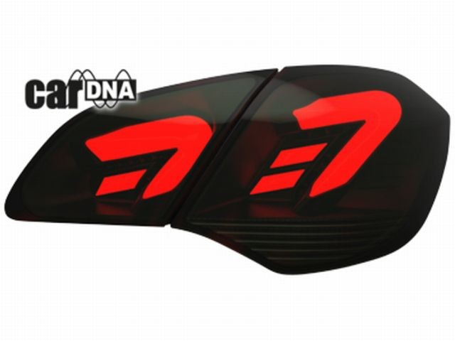 carDNA LED Rückleuchten Opel Astra J LIGHTBAR red/smoke
