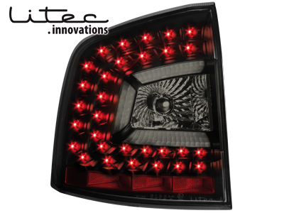LITEC LED Rückleuchten Skoda Octavia 1Z 04+ black/smoke